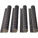 Mimo Style Jogo Americano de Bambu Marrom com 4 Unidades 45x30 para Mesa, Cozinha e Sala de Jantar - Moderno Sofisticado Sust