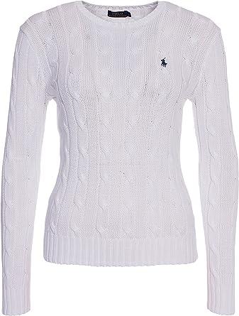 RALPH Lauren suéter de punto con cuello redondo para mujer: Amazon ...