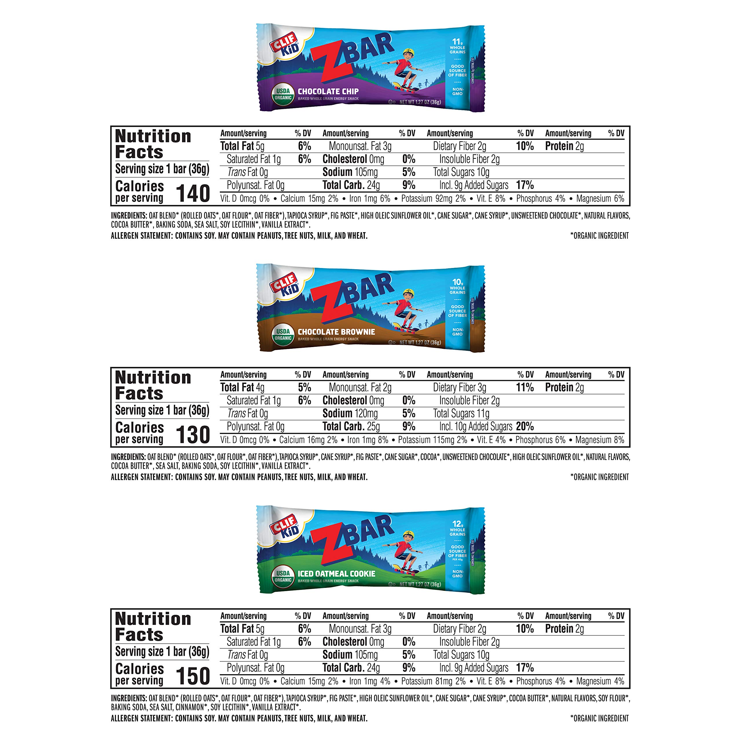 Clif Kid ZBAR - Organic Energy Bars - Value Pack - (1.27 Ounce Snack Bars, 36 Count) by Clif Bar (Image #5)