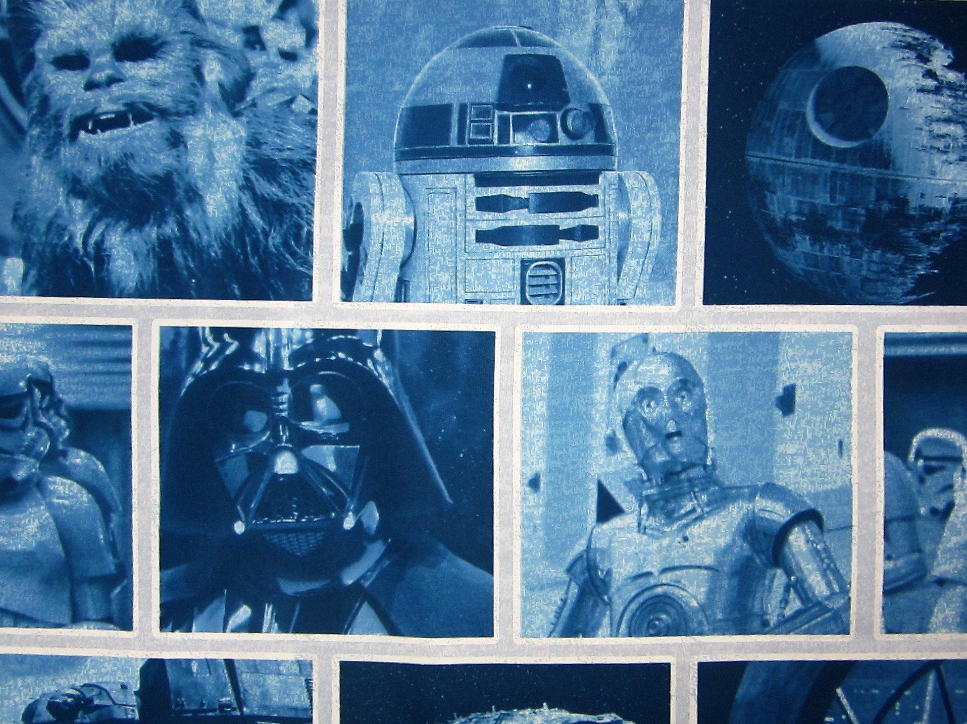Classic Logo Blue Star Wars 100% Polyester (FLAT SHEET ONLY) Size TWIN Boys Girls Kids Bedding