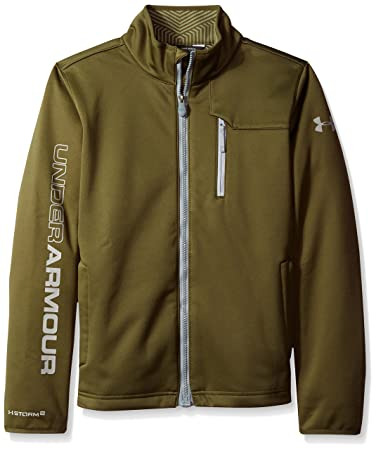 Under Armour Boys' Storm ColdGear Infrared Softershell Jacket,  Greenhead/Steel, Youth X