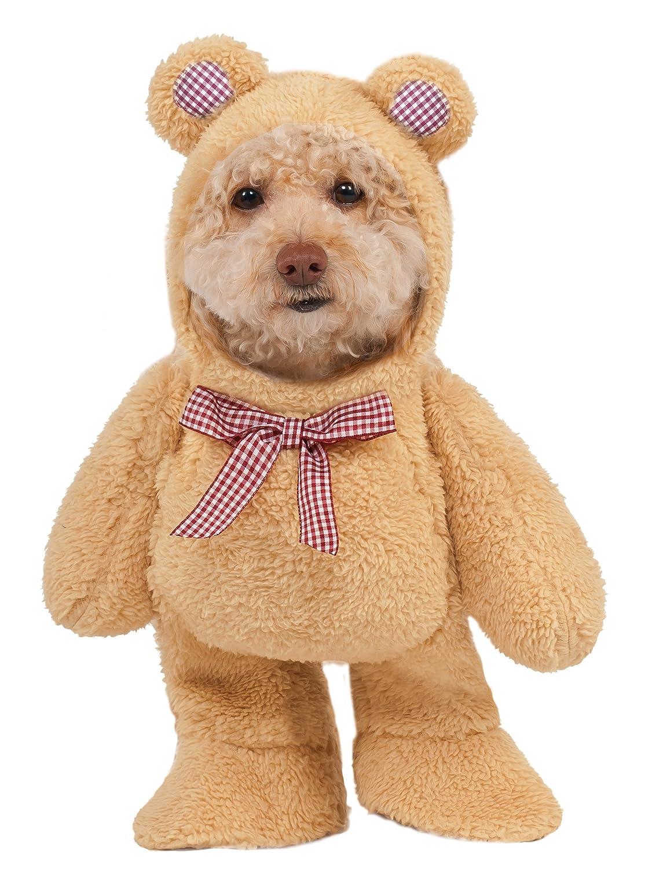 amazon com walking teddy bear pet suit small pet supplies