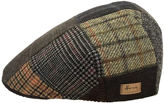 238bd949eb0e5 Herman Boxer Made in Italy Wool Patchwork Ivy Cap Molded Driver Hat ...