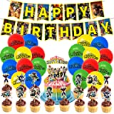 46pcs My Hero Academia Birthday Party Decorations Manga Theme Supplies Including 20 Pack Balloons, 1 Pack Banner, 25 Pack Cak