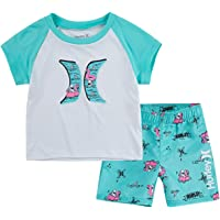 Hurley Boys' Graphic T-Shirt and Swim Suit 2-Piece Outfit Set