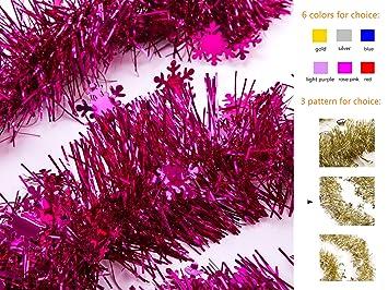 Amazon ipegtop christmas tinsel garland thick cut shiny