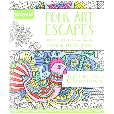 Crayola Folk Art Escapes Coloring Book: Toys & Games