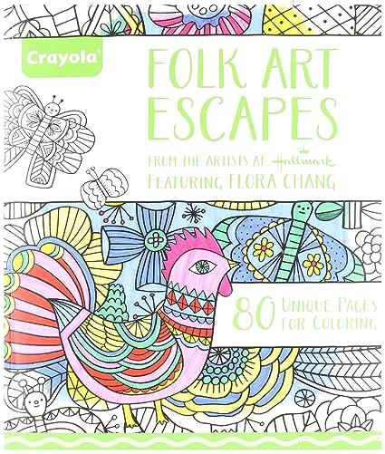 amazon com crayola folk art escapes coloring book toys games