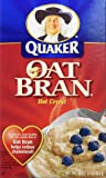 quaker hot oat bran hot cereal, 16 ounce 盒装
