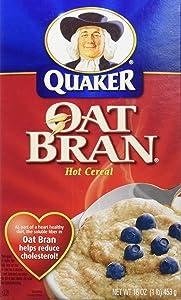 Quaker Hot Oat Bran Hot Cereal, 16 Ounce Box