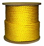 Rope King TP-12400Y Twisted Poly Rope - Yellow