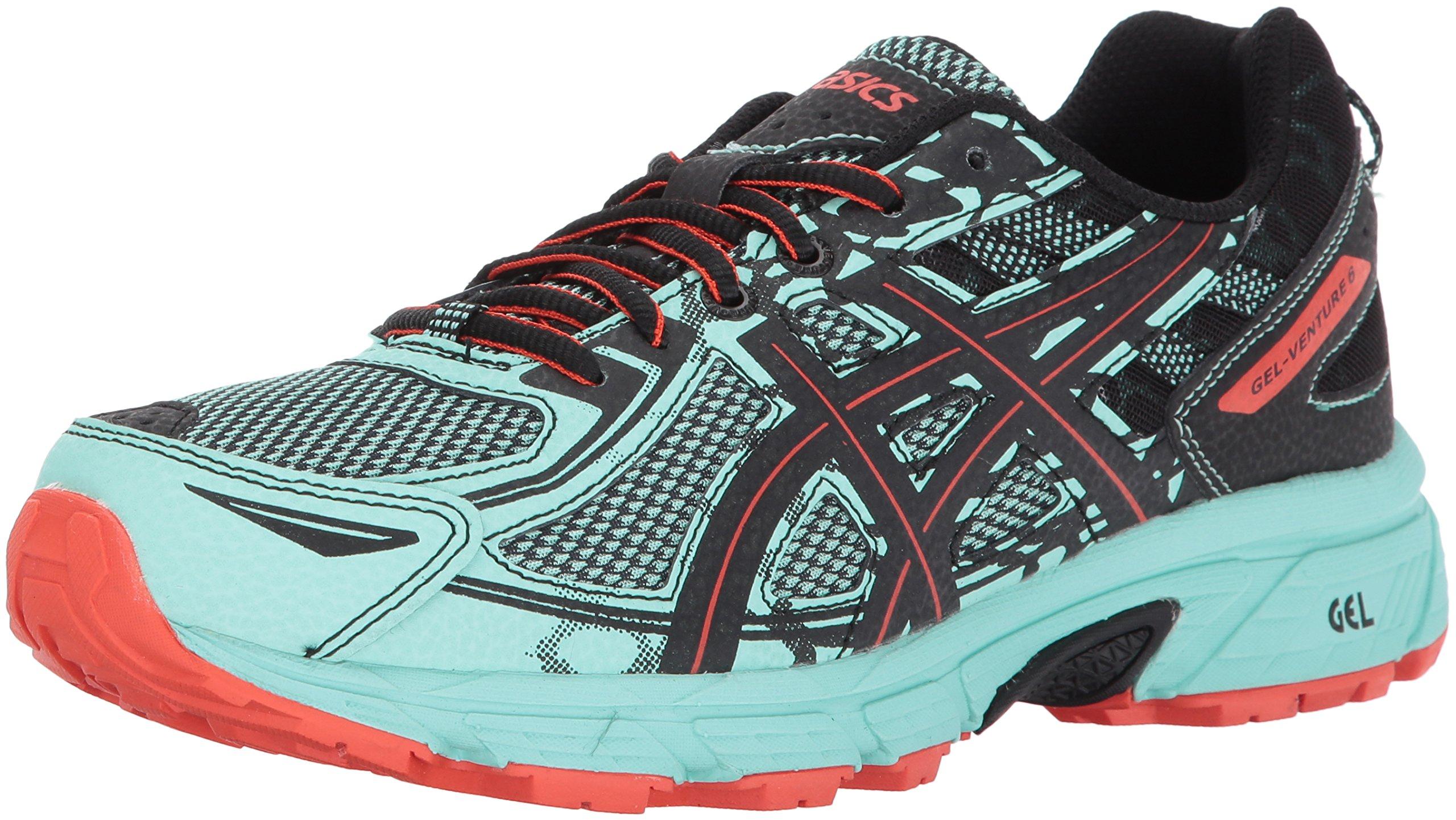 ASICS Women's Gel-Venture 6 Running-Shoes,Ice Green/Black/Cherry Tomato,11 Medium US by ASICS