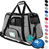 PetAmi Premium Airline Approved Soft-Sided Pet Travel Carrier Ventilated, Comfortable Design with Safety Features | Ideal for Small to Medium Sized Cats, Dogs, and Pets
