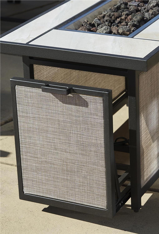 Amazoncom Cosco Outdoor Serene Ridge Aluminum Propane Gas Fire - Propane fire pit table with lid