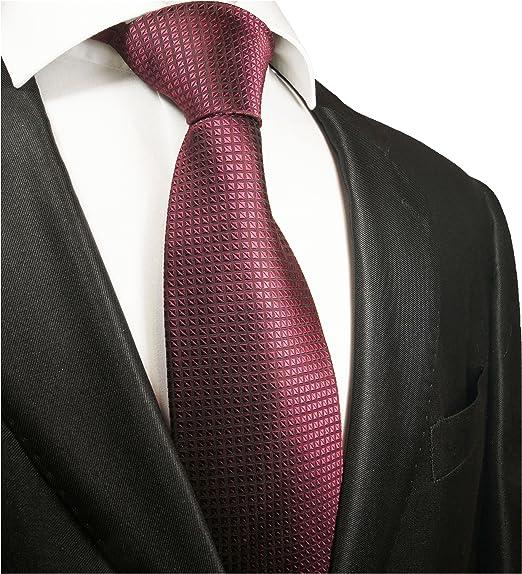 Paul Malone corbata de seda patrón de gofre malva: Amazon.es: Ropa ...