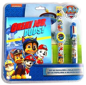 PAW PATROL Set (Reloj Digital + bolígrafo Multi portátil con Licencia: Amazon.es: Juguetes y juegos