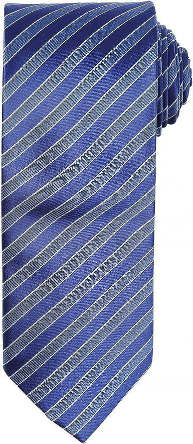 Premier - Corbata formal con estampado de rayas para hombre (Talla ...