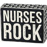 "Primitives by Kathy ""Box Sign, Nurses Rock"" Wall Decor"