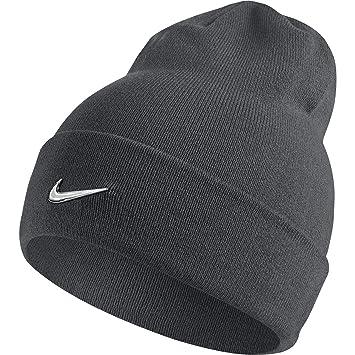 ca66043485 Nike Swoosh Bonnet Mixte Adulte, Dark Grey/Metallic Silver, FR Fabricant :  Taille