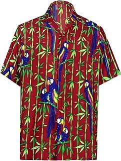 9f88a25a3 LA LEELA Likre Vacation Party Shirt Royal Blue 516 XL   Chest 48 ...