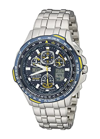 skyhawk watches drive eco stainless steel dress blue silver men citizen angels s product