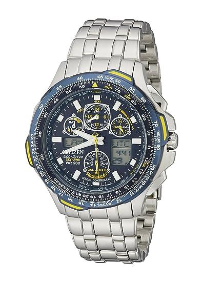 Citizen JY0040-59L - Reloj Digital de Cuarzo para Hombre, Correa de Acero Inoxidable Color Plateado: Amazon.es: Relojes