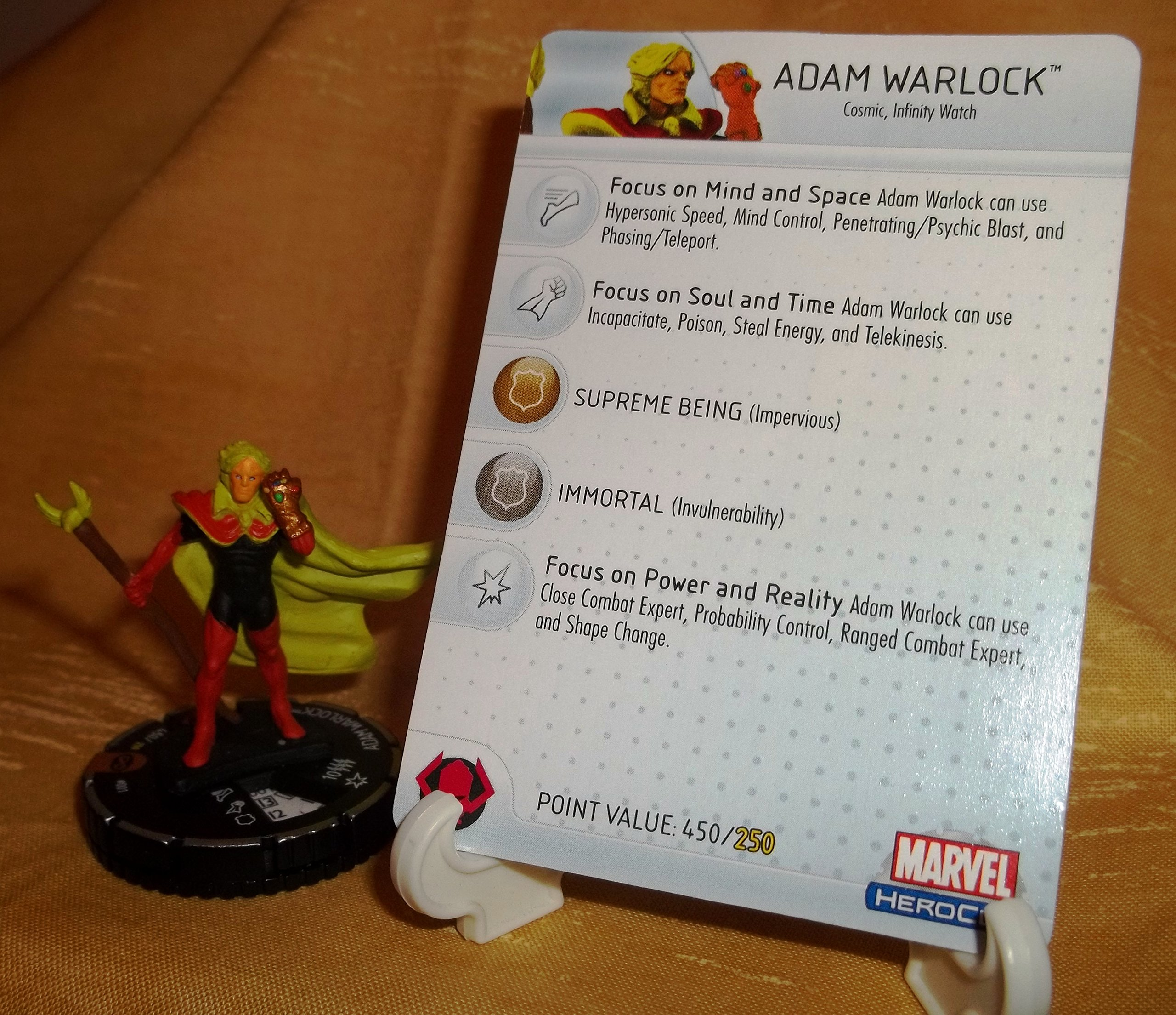 Adam Warlock - Marvel - Infinity Gauntlet HeroClix #001 - Limited Edition
