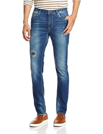 Lee Men's (Bruce) Skinny Fit Mid Rise Jeans Men's Jeans at amazon