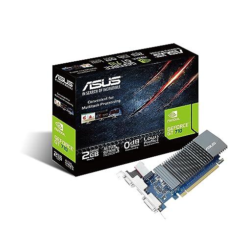 ASUS Nvidia GeForce GT 710 GT710-SL-2GD5 2Gb GDDR5 PCI Express Graphics Card - Black
