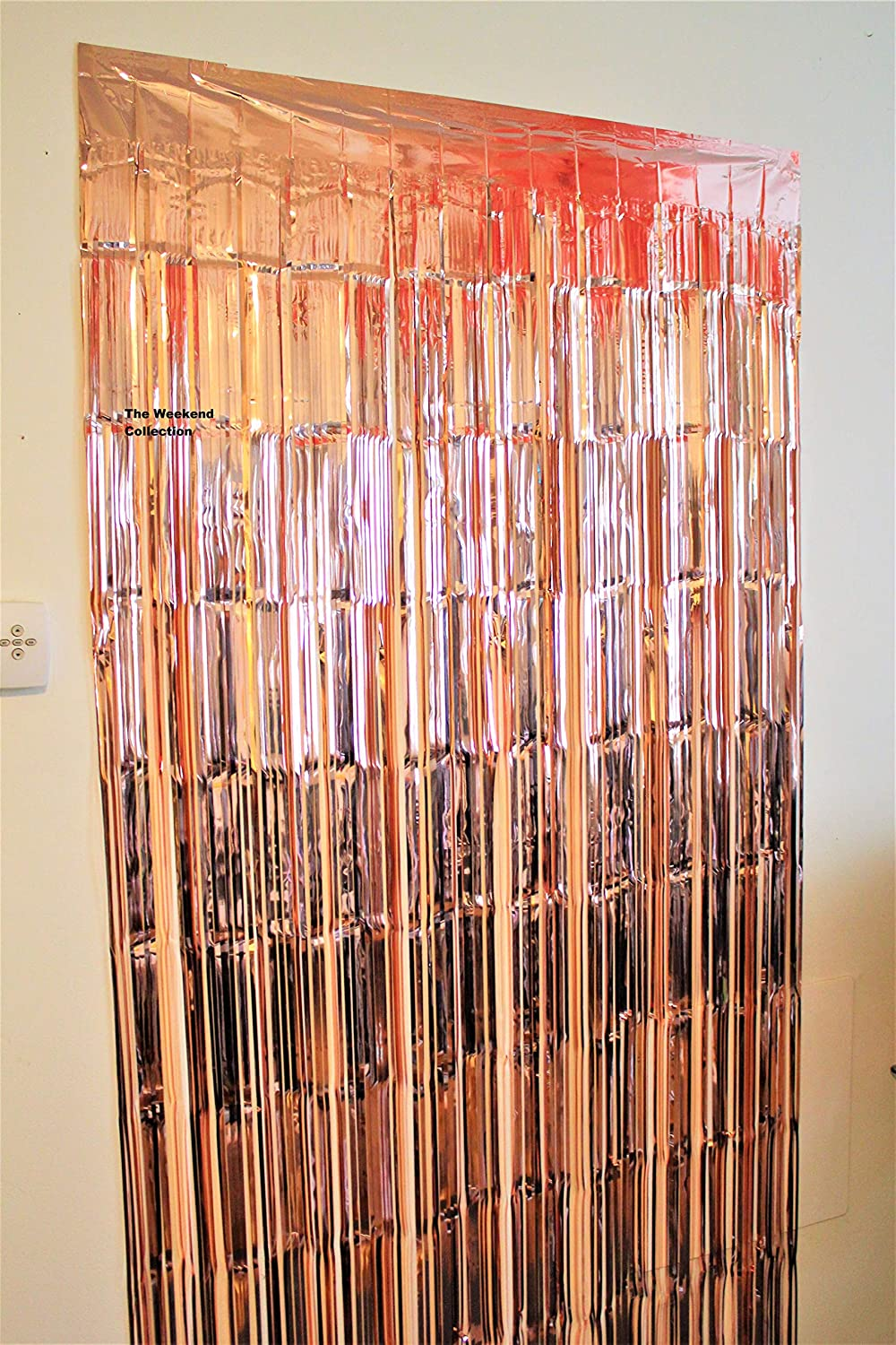 Rose Gold Confetti Balloons -18 Inch Rose Gold Balloons Rose Gold Foil Fringe Curtain |Rose Gold Glitter Confetti 50 Rose Gold Paper Straws Rose Gold Party Decorations Rose Gold Table Runner The Weekend Collection