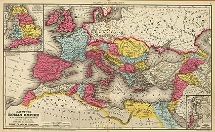 Amazon Com Vintprint Map Poster Roman Empire 24 X15 Posters