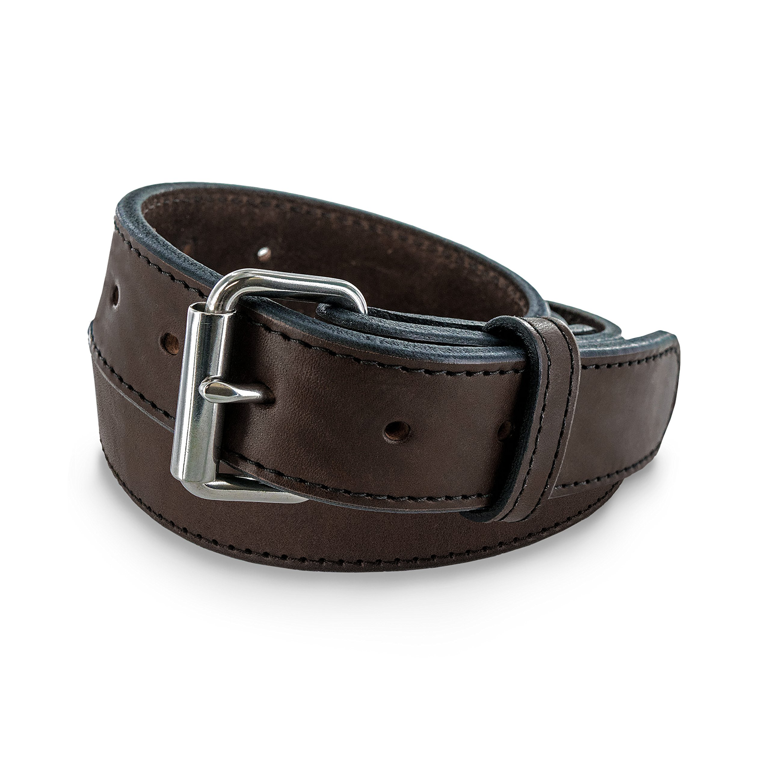 Hanks Extreme - Leather Gun Belt for CCW - Concealed Carry - 17oz. Premium Leather Belt - Made in USA - 100-Year Warranty - Brown - Size 38 by Hanks Belts