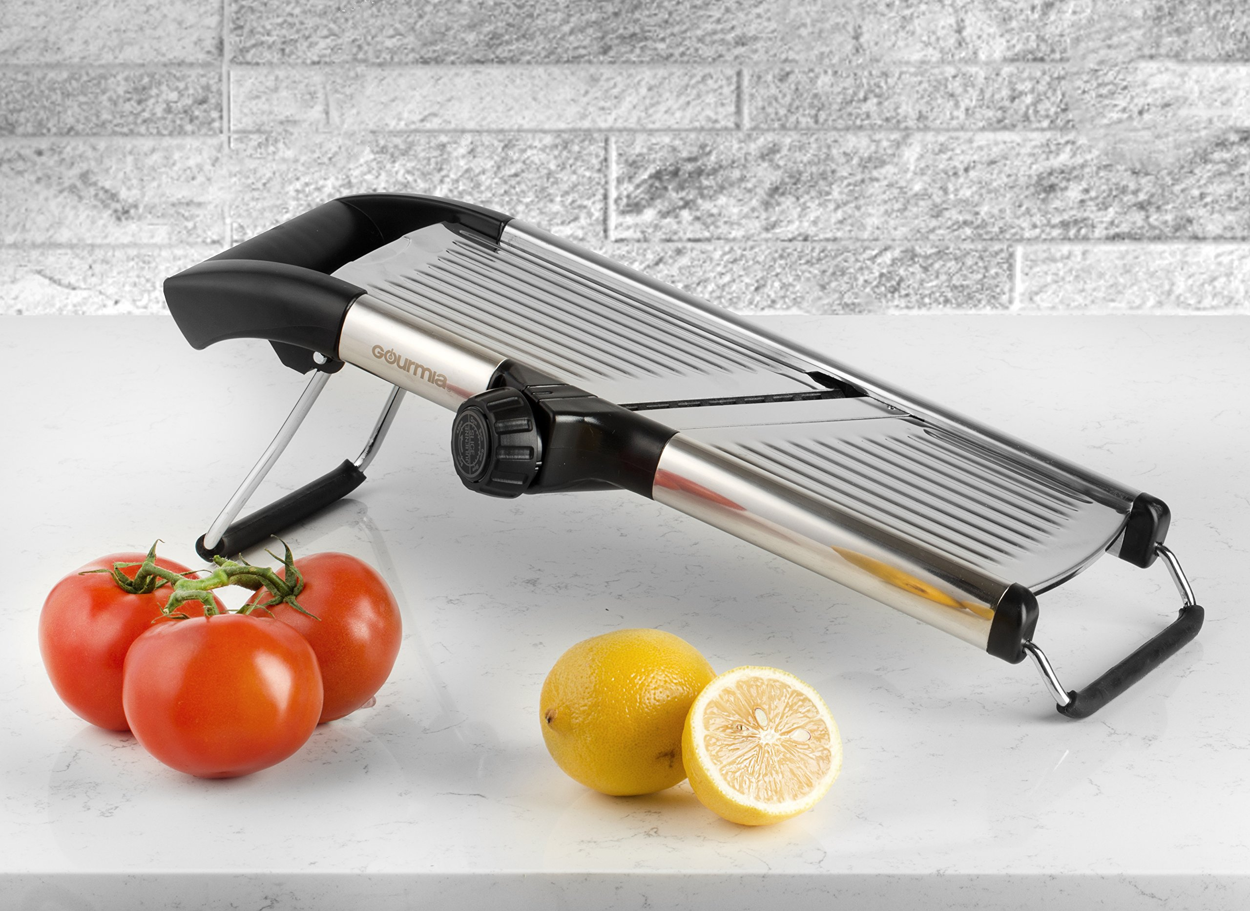 Gourmia GMS9105 Adjustable Stainless Steel Mandoline Slicer Dial-Style Kitchen Slicer With Built in Adjustable Blades Fine to Thick Slice & Julienne Settings by Gourmia (Image #6)