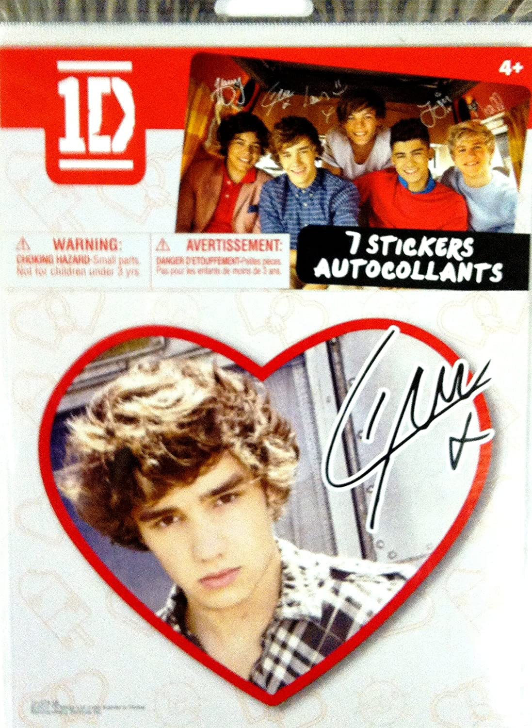 One Direction Individual Heart Sticker-Liam