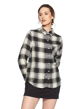 f967c91da7c Forever 21 Women s Body Blouse Shirt (00200292012 0020029201  CREAM  BLACK 2 S)