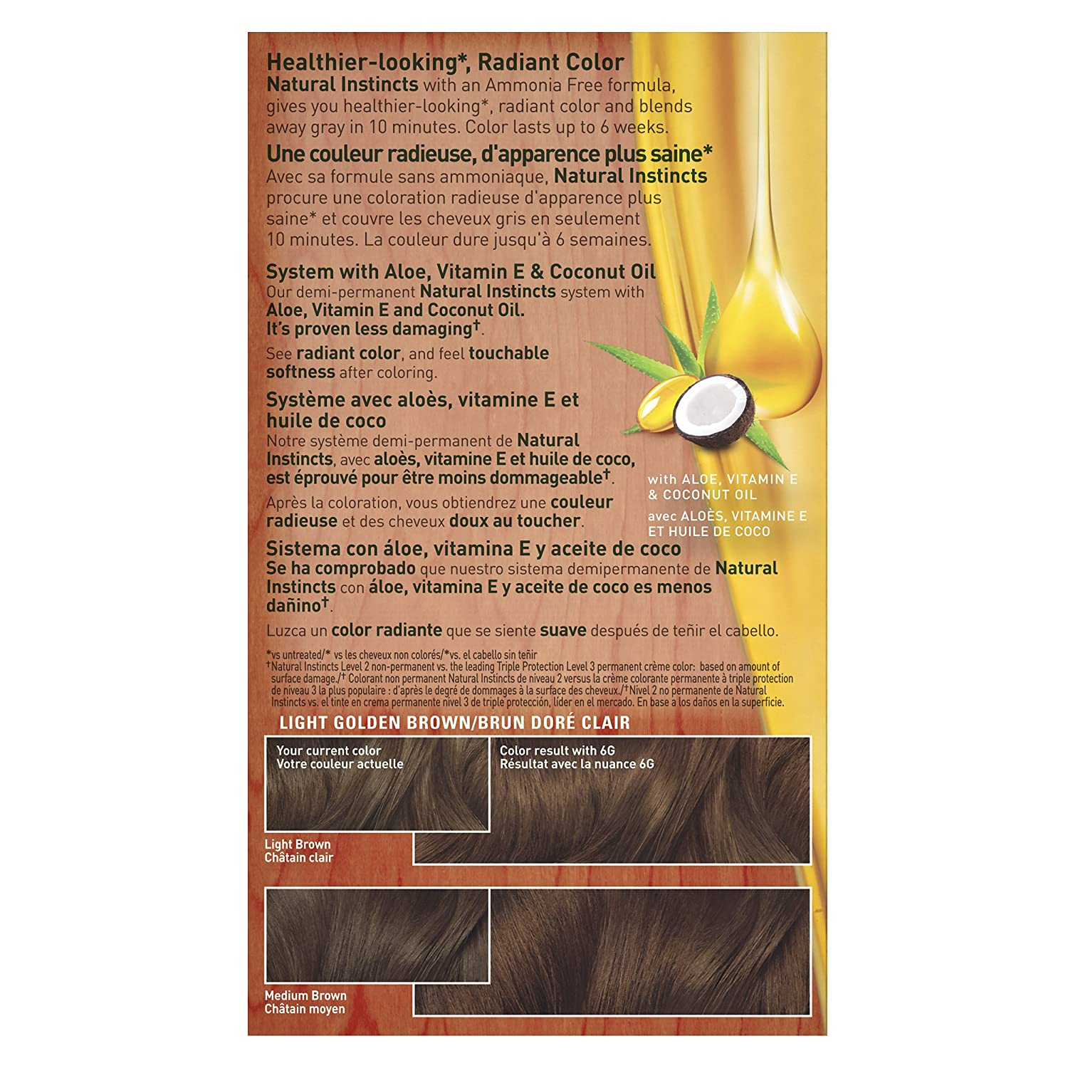 Amazon clairol natural instincts semi permanent hair color amazon clairol natural instincts semi permanent hair color kit pack of 3 6g 12 toasted almond light golden brown color ammonia free chemical nvjuhfo Images