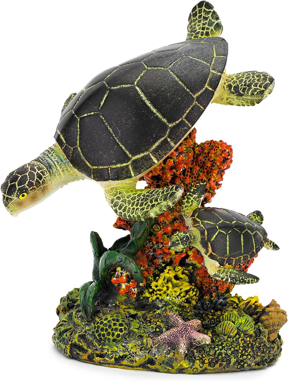 Penn Plax Swimming Sea Turtle Aquarium Decor, Medium