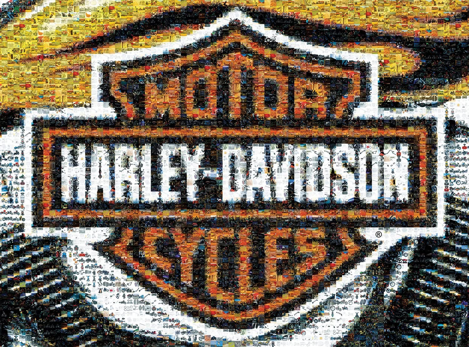Buffalo Games Photomosaic, Harley-Davidson - 1000pc Jigsaw Puzzle