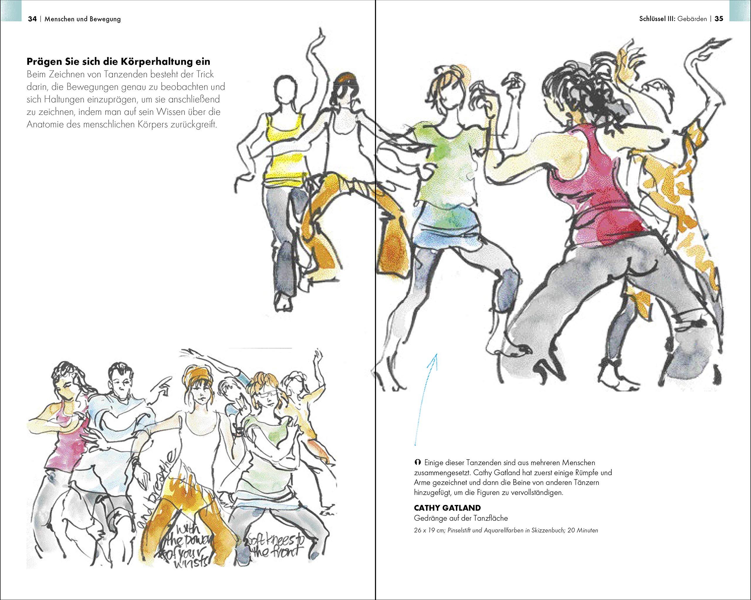 Urban Sketching Menschen Und Bewegung Zeichnen In Der Stadt Campanario Gabriel 9783864903816 Amazon Com Books