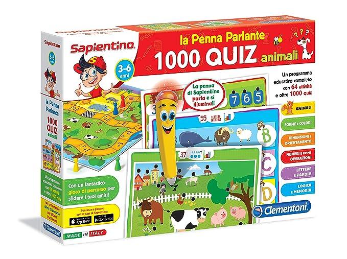 150 opinioni per Clementoni 13268- 1000 Quiz Animali