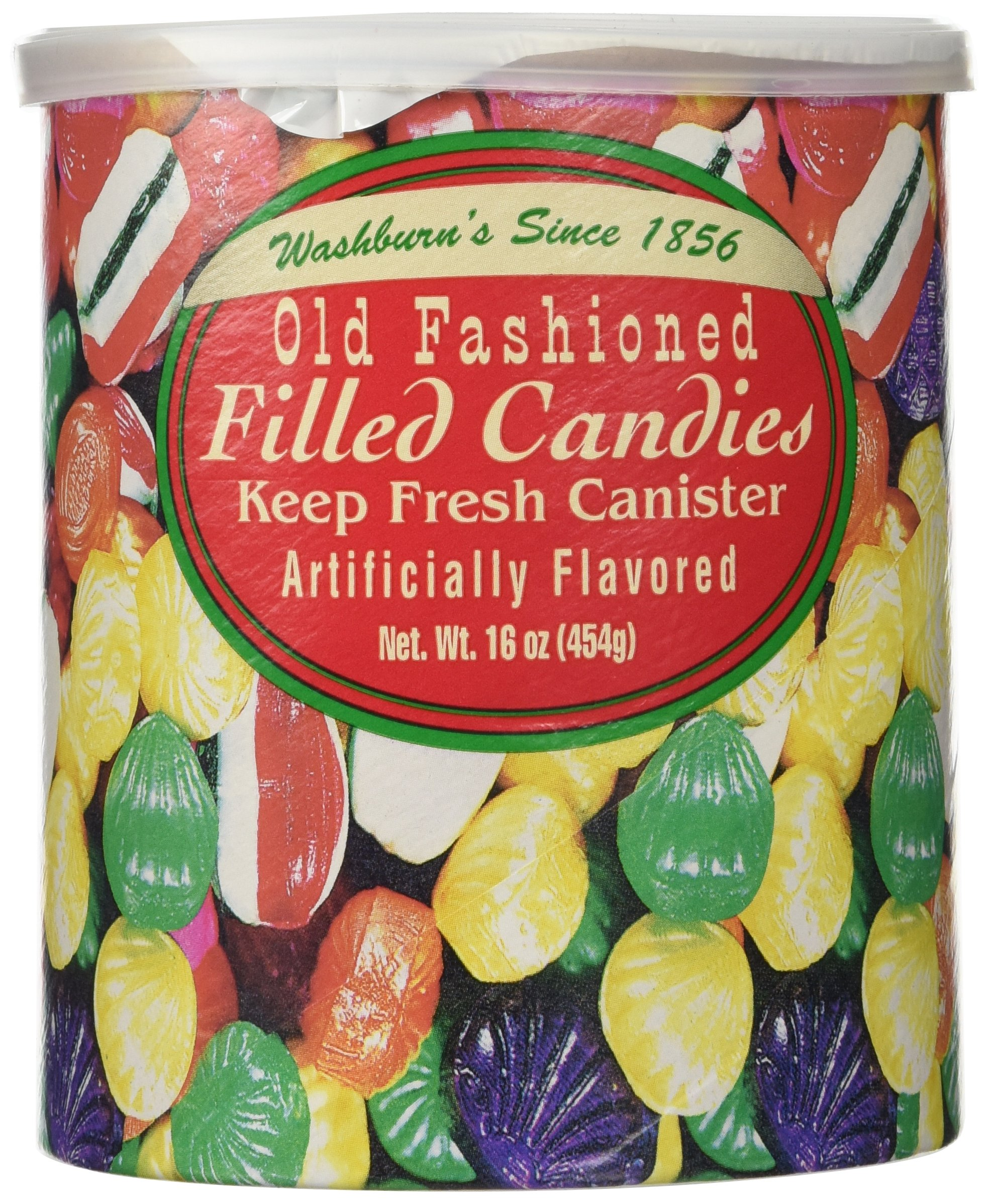 Amazon.com : Washburn\'s Old Fashioned Hard Candy 16 Oz Canister ...