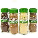 McCormick Gourmet Organic Baking Variety Pack (Cloves, Saigon Cinnamon, Ginger, Nutmeg), 0.05 lb