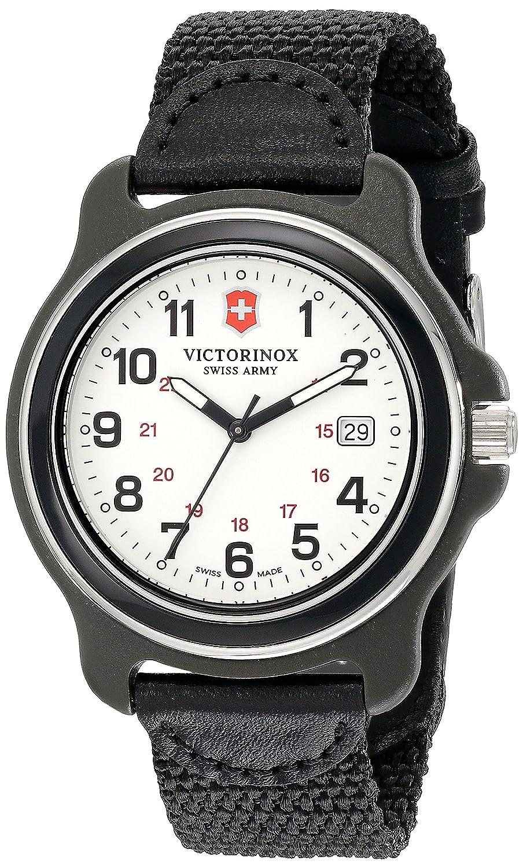 Victorinox Herren-Armbanduhr 39mm Armband Nylon Schwarz GehÄuse Plastik Schweizer Quarz Analog 249086
