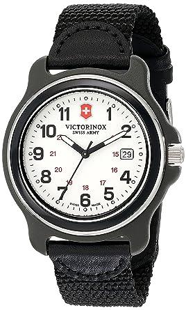Victorinox 249086 - Reloj de Hombre, Esfera analógica Original XL de Movimiento de Cuarzo Suizo, Color Negro: Amazon.es: Relojes