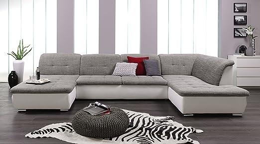 Arbd Wohnlandschaft Farus Couchgarnitur Xxl Sofa U Form Weiss
