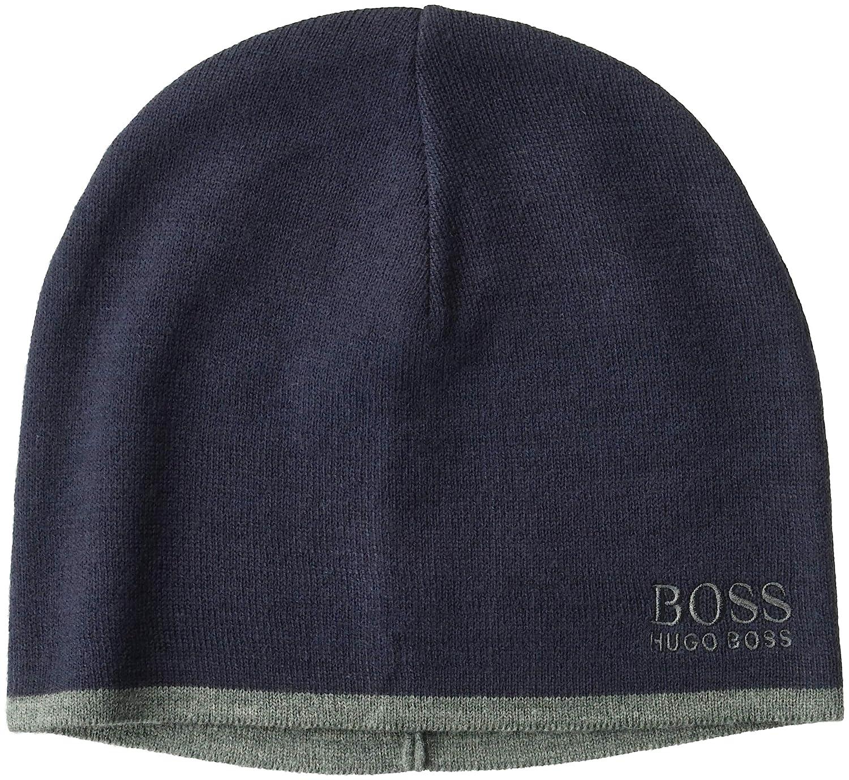 0d0b0692e Hugo Boss Mens Ciny Knitted Beanie Charcoal One Size BOSS Hugo Boss ...