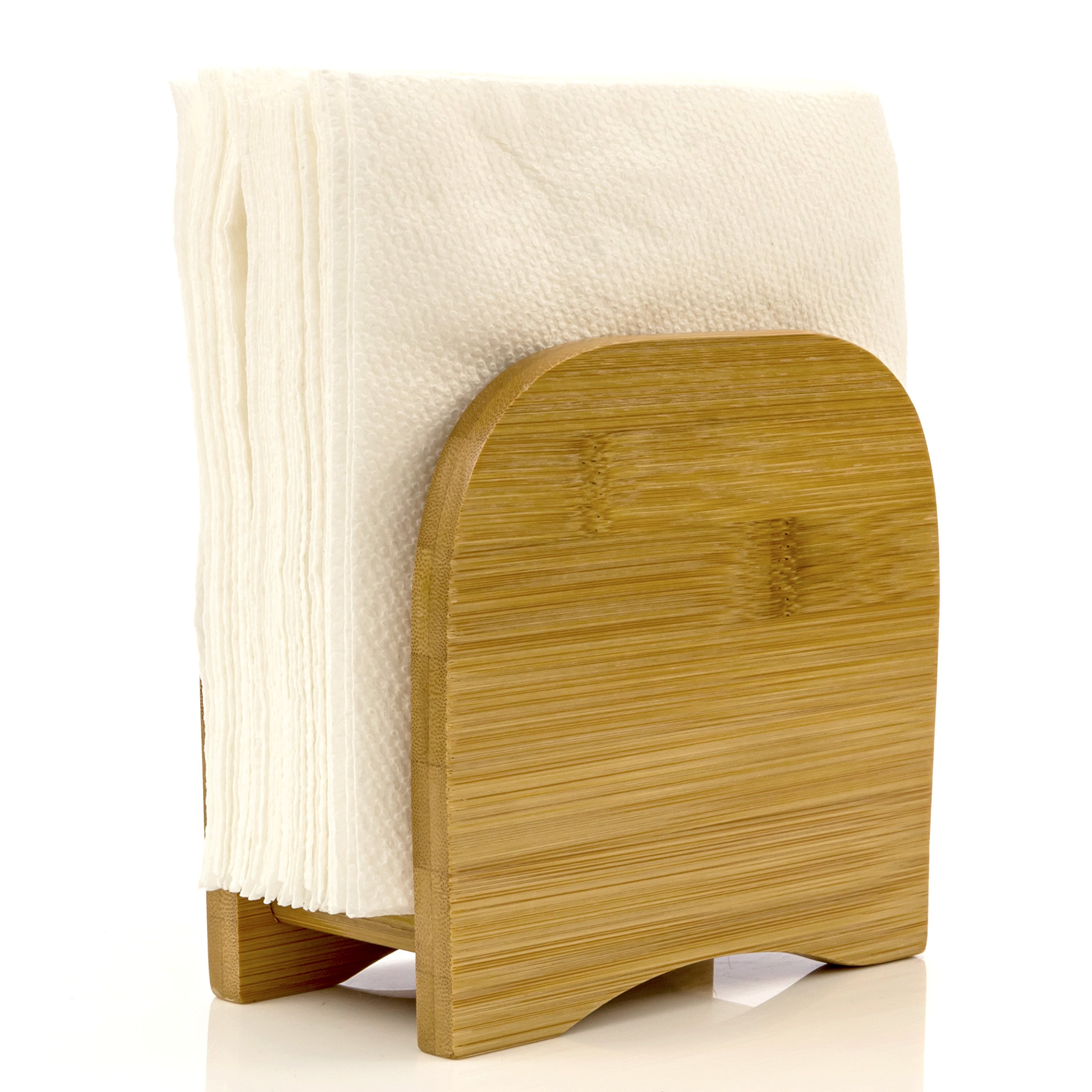 Napkin Holder Counter Top Made of Organic Bamboo Wood By Intriom Bamboo Collection by Intriom