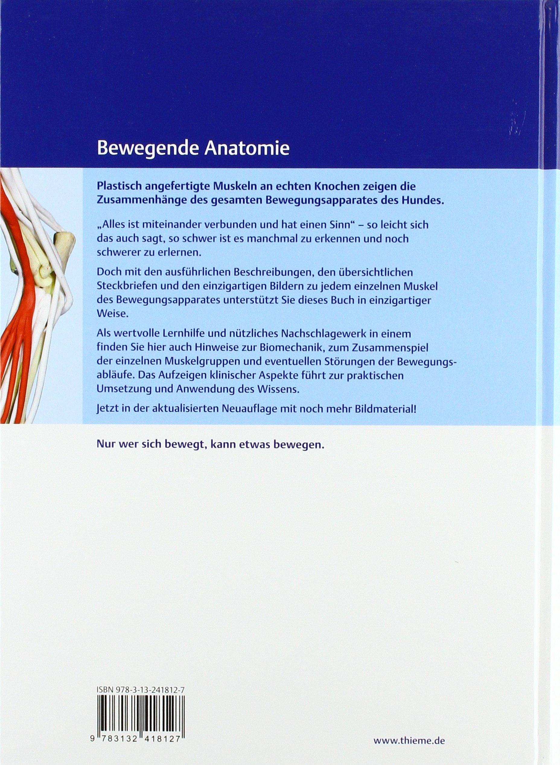Bewegungsapparat Hund: Funktionelle Anatomie, Biomechanik und ...