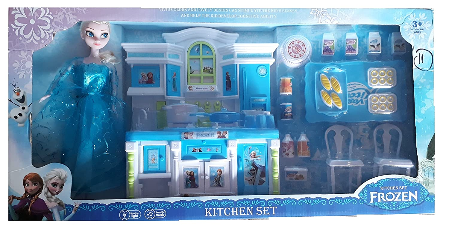 Buy charlies toy factory frozen kitchen set 2018 rare edition blue large with doll online at low prices in india amazon in
