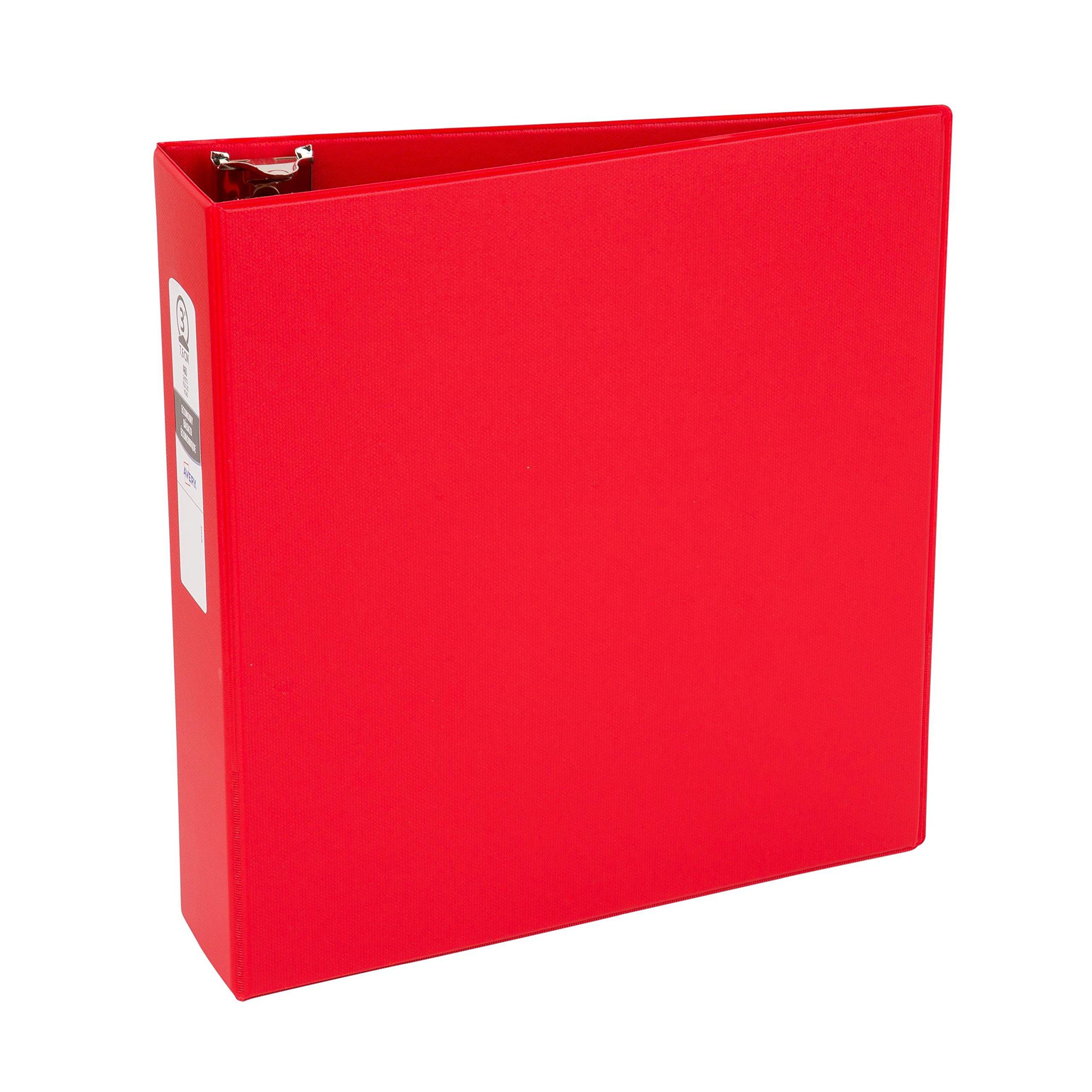Avery Economy Binder, 3-Inch Round Ring holds up to 460 sheets, 1 Red Binder (3608)